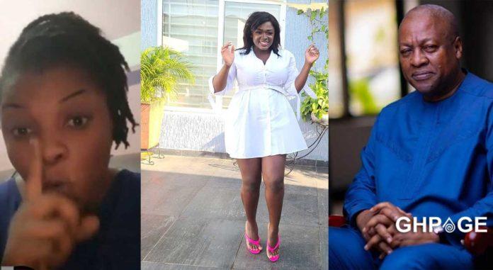Video: Gloria Kani names Mahama as Tracey Boakye's baby daddy 1