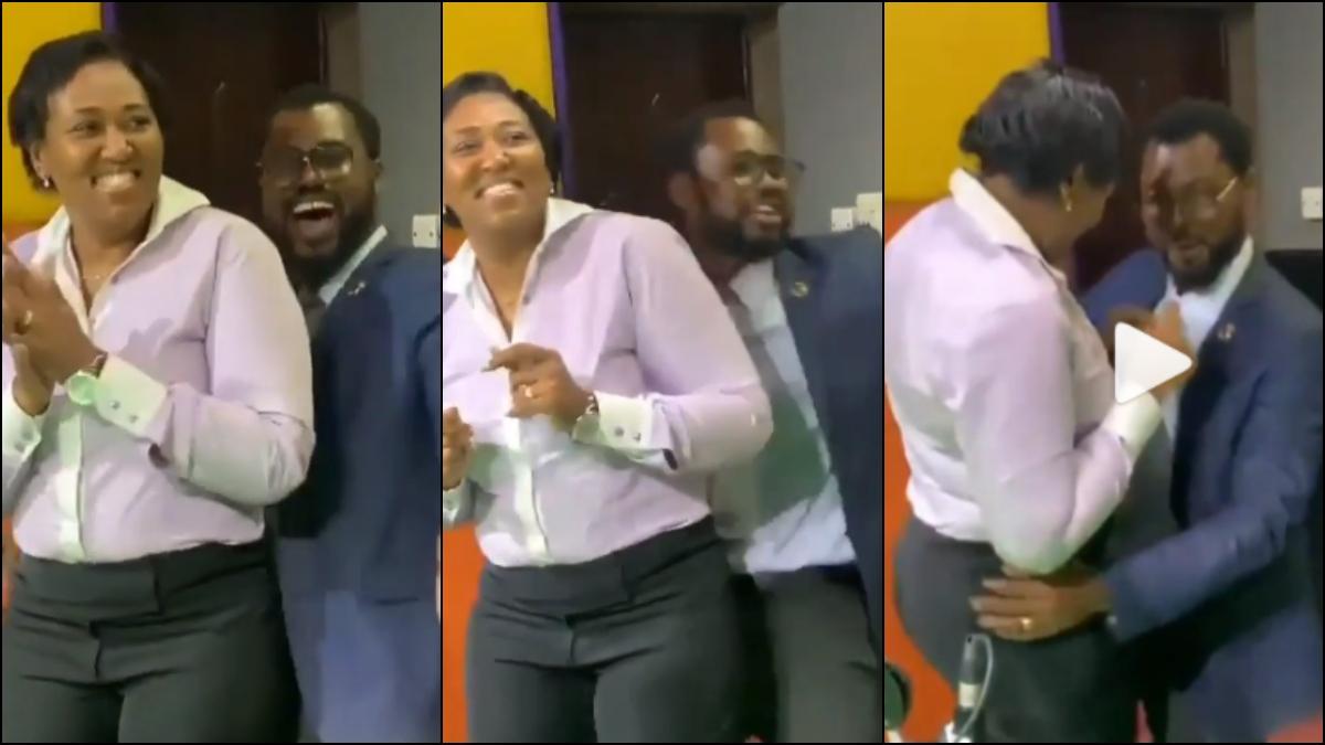 Video Of Abeiku Santana Grinding His Wife Hard In The Studios Of Okay FM Leaked Online. 1