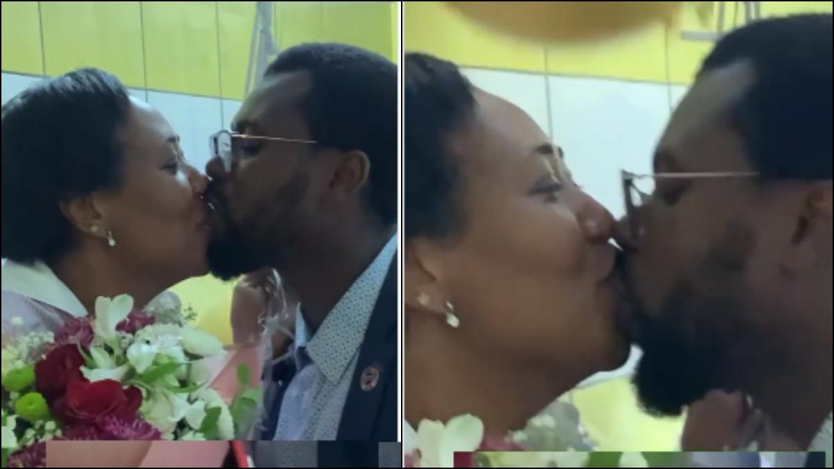 Video Of Abeiku Santana And Wife's Deep Kissing  Goes Viral. 1