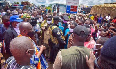 Bawumia gives hope to stranded drivers on Bolgatanga-Bawku Highway 53