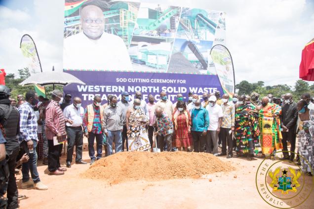 Akufo-Addo Cuts Sod For €15m Waste Treatment Facility In Western North Region. 5