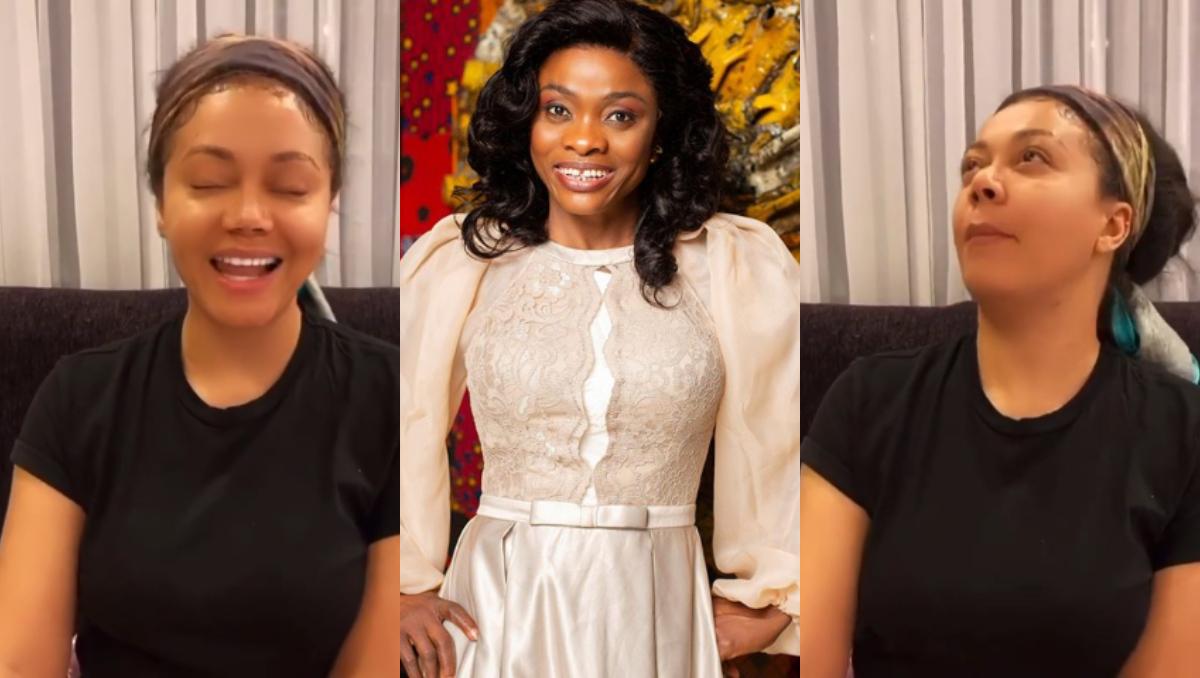 "Video: Fans reacts as Nadia Buari mimes perfectly to Diana Asamoah's ""Ceciria' Marfo Video 1"