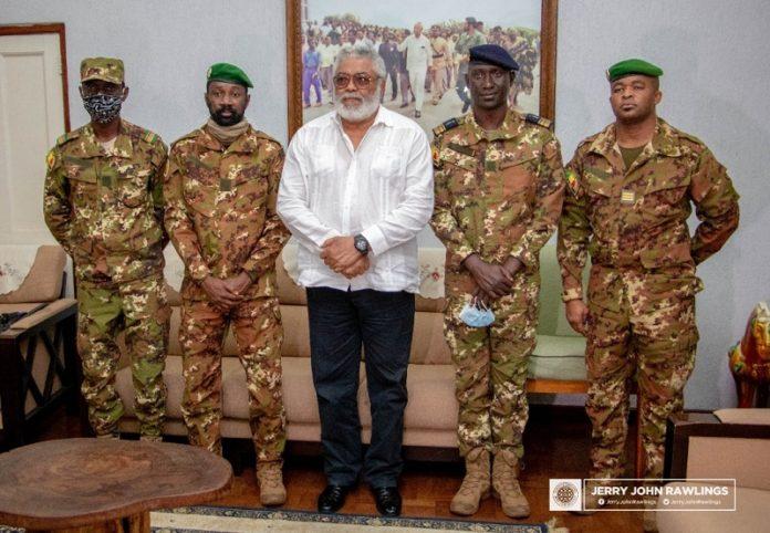 Rawlings receives Malian coup makers 1