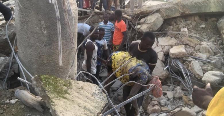 Akyem Batabi Church Building Collapse; Body Of 2-Year-Old Baby Retrieved. 1