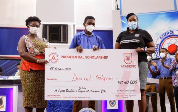 Daniel Kekeli Gakpetor Of PRESEC NSMQ2020 Team Awarded A $40,000 Presidential Scholarship. 1