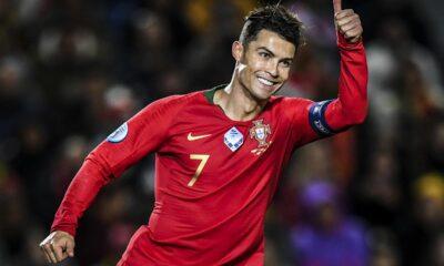 Cristiano Ronaldo equals Asamoah Gyan's record of 9 consecutive tournament goals. 34
