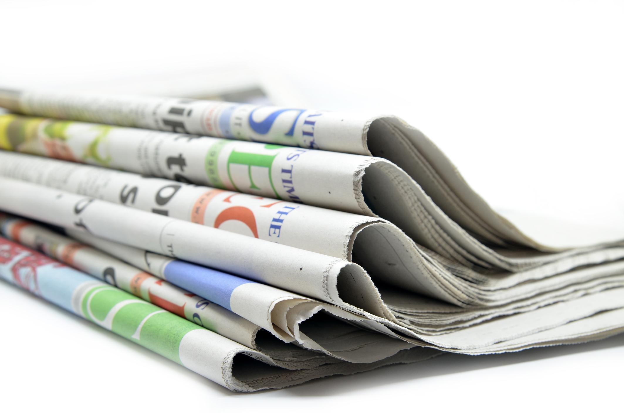 Newspaper headlines; Friday, July 9, 2021. 46