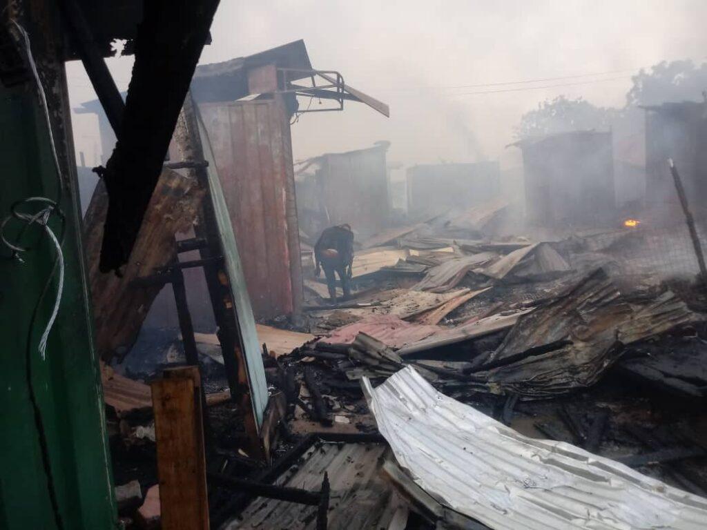 Fire guts Techiman Central Market. 45