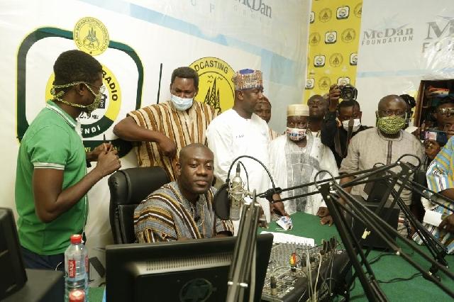 Oppong Nkrumah opens GBC's Naya Radio in Yendi. 46