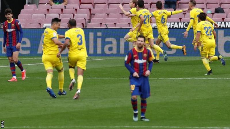 La liga: Barca denied by last-gasp Cadiz equaliser 1