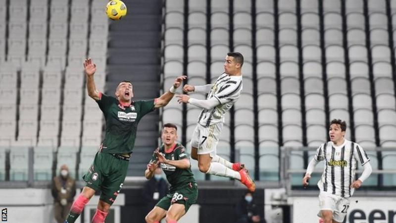 Serie A: Ronaldo scores two headers as Juventus down Crotone 1