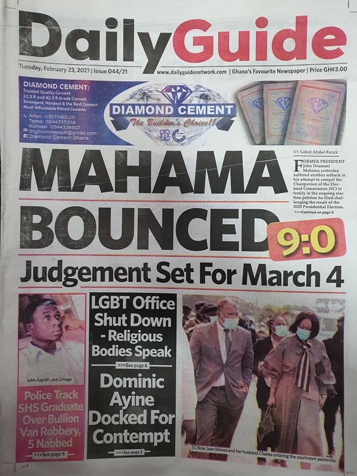 Newspaper Headlines: Tuesday, February 23, 2021 3