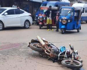 Cement truck runs over 19-year-old motor bike rider at Bogoso. 48