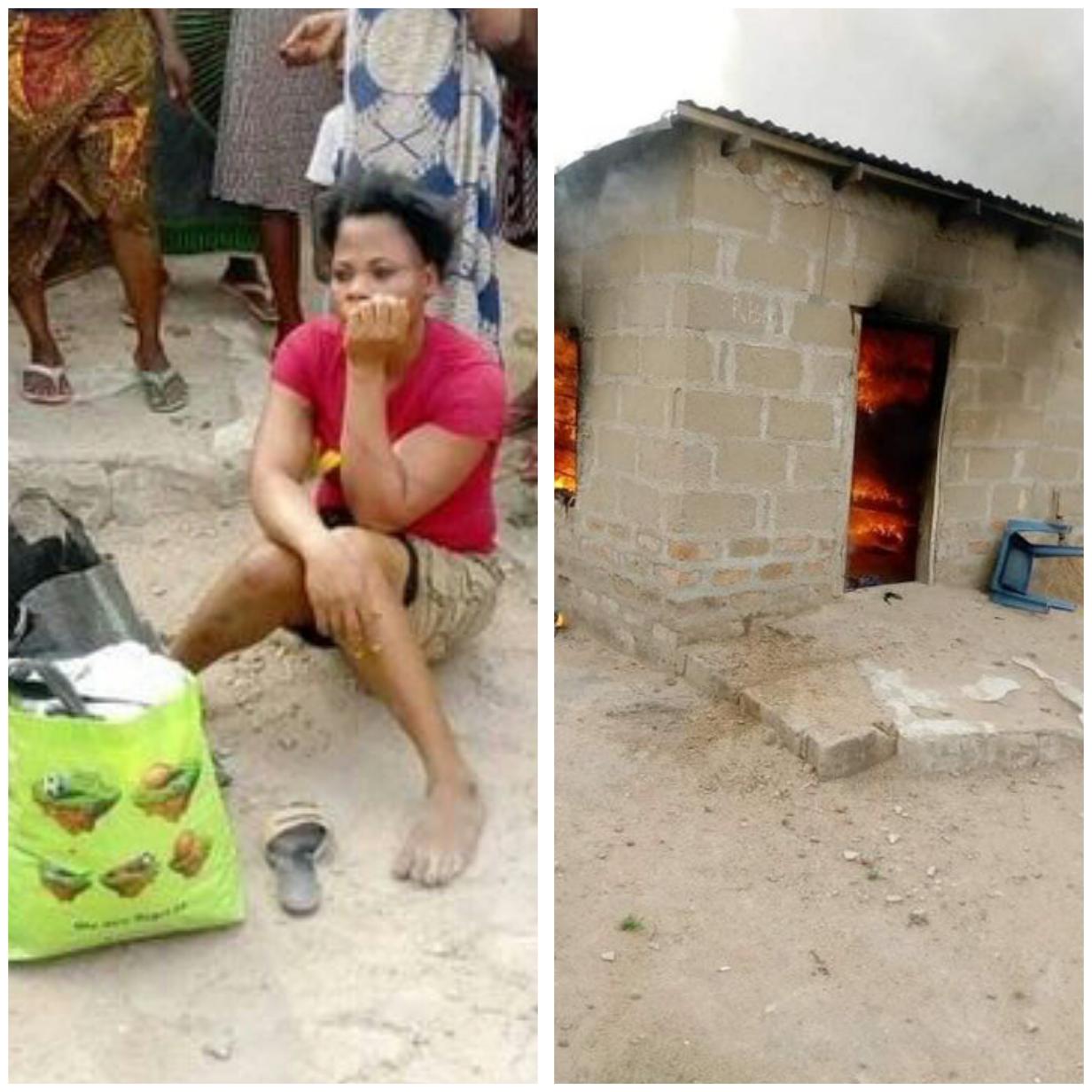Woman allegedly sets her boyfriend's house ablaze over misunderstanding. 1