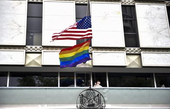 President Joe Biden tells U.S. Embassies to fly Gay Pride Flag on same pole as US flag, revoking Trump's policy. 46