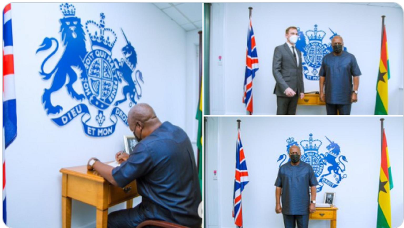 John Mahama Sign Book Of Condolence For Prince Philip, Duke of Edinburgh.. 1