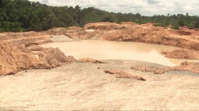 16 'galamsey' excavators seized at Amenfi West in Western Region. 52