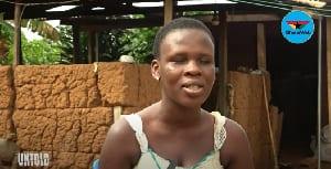 Work hard – 19-year-old visually impaired Jennifer Dede encourages ladies. 46
