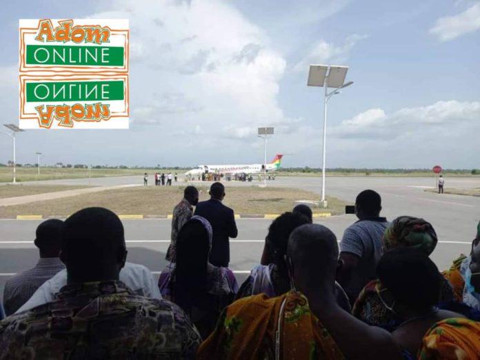 Flight makes historic landing at Ho Airport [Photos]. 5