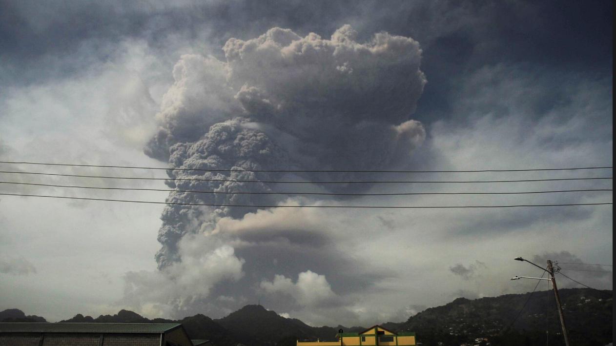 Caribbean volcano erupts sparking mass evacuation - (Video). 45