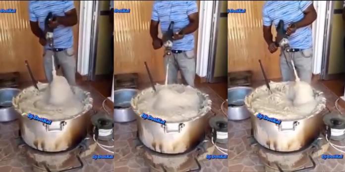 Man creates Banku cooking machine - (Video). 46