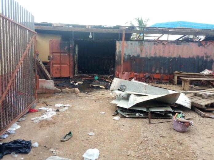 Fire ravages Mankessim market again. 1