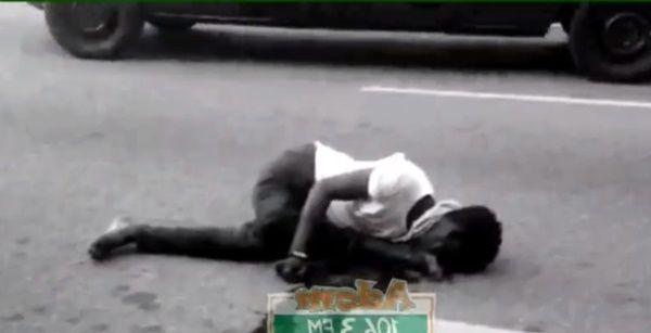 Motor Rider Knocks Down Woman At Circle. 46