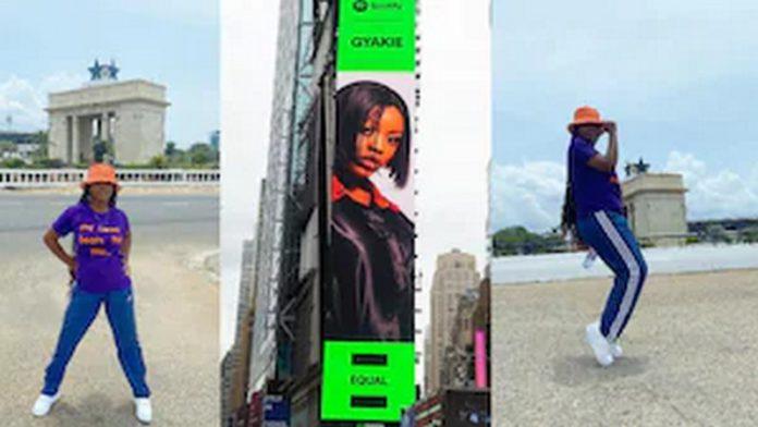 Massive reaction as billboard of Gyakie appears in New York City. 1