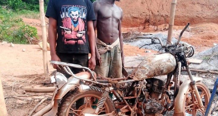 "SAD: Anti-""Galamsey"" Task Force burns Motor Bike of innocent palm wine tapper. 48"