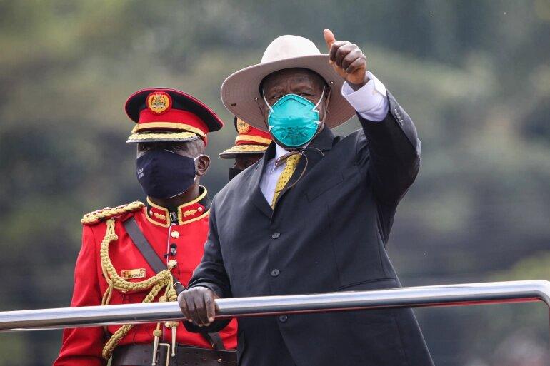 Yoweri Museveni sworn in for sixth term as Ugandan President. 46