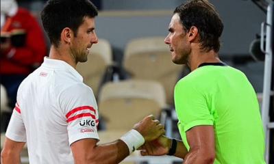 Novak Djokovic beats reigning champion Rafael Nadal at the French Open to set up final against Stefanos Tsitsipas. 44