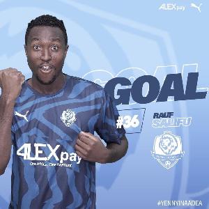 Top European clubs fight for 20-goal Ghana league outstanding striker Rauf Salifu. 46