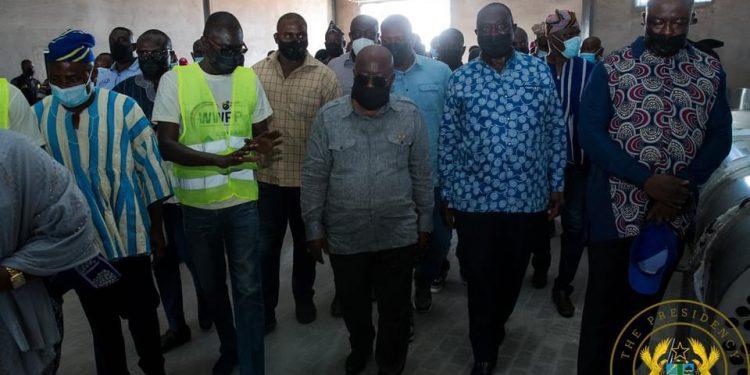 Akufo-Addo, Alan Kyerematen visit factories under 1D1F in Bawumia's hometown. 46