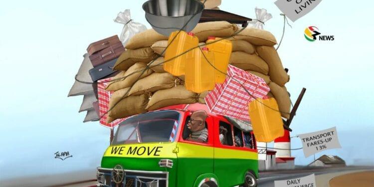 [Cartoon] 'Abrabo n'ayɛ den' but we move! 46