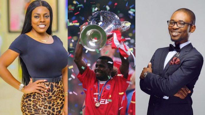 """Nigeria can never boast of a defender like him"" – Nana Aba Anamoah shuts Nigerian blogger up for disrespecting Sammy Osei Kuffour. 48"