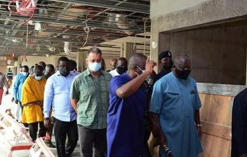 Photos: Reactions as Otumfuo Osei Tutu II inspects the progress of Kumasi International Airport. 56