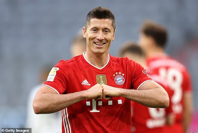 Robert Lewandowski wins Germany's Footballer of the Year award for the second season running. 46