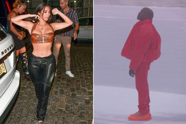 Kim Kardashian attends Kanye West's album event with their kids & sister Khloe to support him despite divorce (Photos). 46