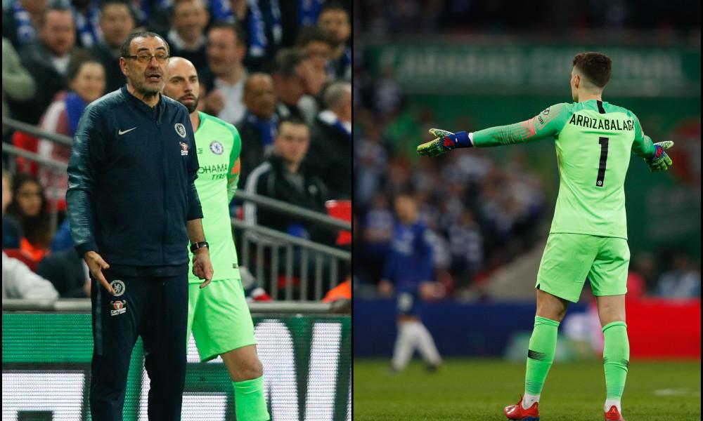 Kepa Arrizabalaga apologises to former boss Maurizio Sarri over the 2019 Carabao Cup final incident. 46