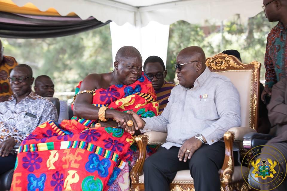Otumfuo honours President Nana Akufo-Addo. 46