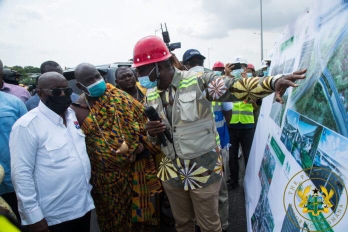 Akufo-Addo commissions 4-tier Pokuase Interchange today. 50