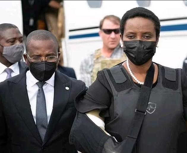 Widow of Haiti's assassinated president Jovenel Moise arrives home in bulletproof vest (Photos). 46