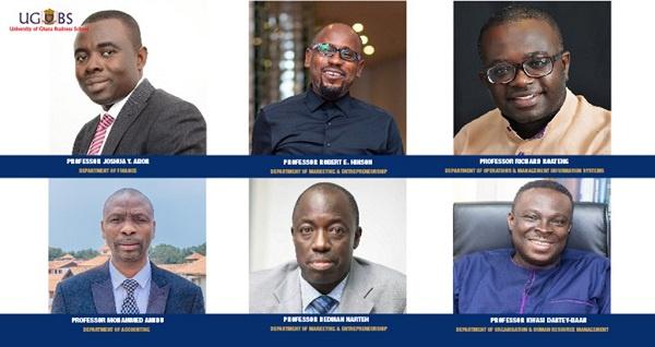 6 University of Ghana professors earn slot among Ghana's top lecturers. 45