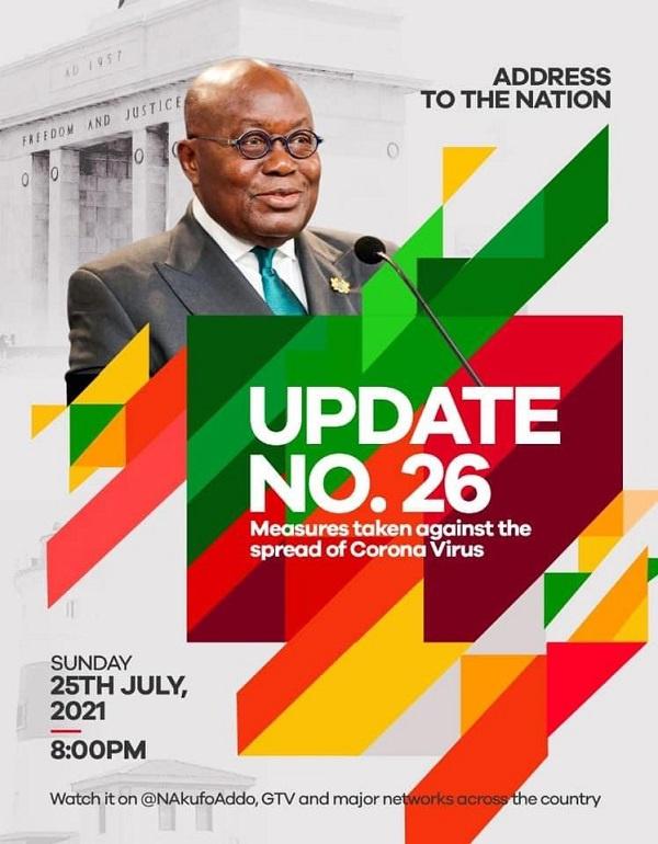 Fellow Ghanaians: President Akufo-Addo to address Ghanaians on coronavirus tonight. 46