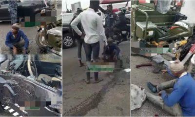 3 injured as 'Aboboyaa' crashes with Police car, motorbike - (Video). 116