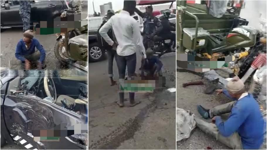 3 injured as 'Aboboyaa' crashes with Police car, motorbike - (Video). 46
