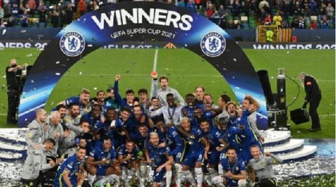 Chelsea win Super Cup on penalties. 46