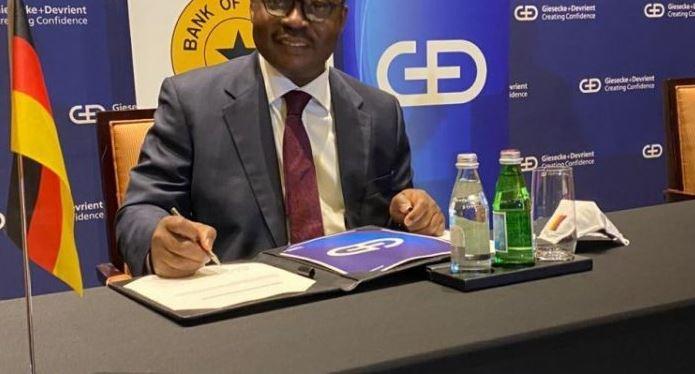 BoG partners Giesecke+Devrient to pilot digital currency in Ghana. 46